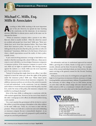 2012 Profiled in Attorney at Law Magazine